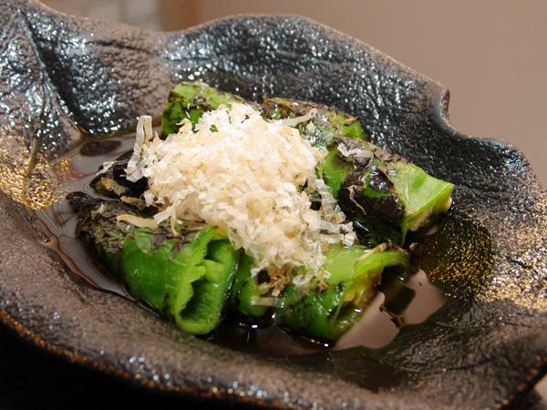 万願寺とうがらしの焼き浸し(京野菜)